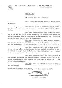 Lei Ordinária nº 2180_1976_Rua Osvaldo Berndt