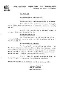 Lei Ordinária nº 2816_1982_001 Rua Francisco Knoch