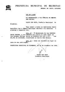 Lei Ordinária nº 3320_1986_001 Rua Gertrud G. Hering